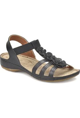 Polaris 81.157362.Z Siyah Kadın Basic Comfort Sandalet