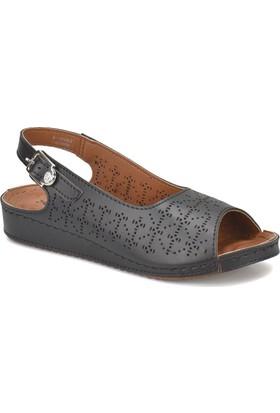 Polaris 81.157332.Z Siyah Kadın Basic Comfort Sandalet