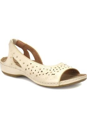 Polaris 81.157363.Z Bej Kadın Basic Comfort Sandalet