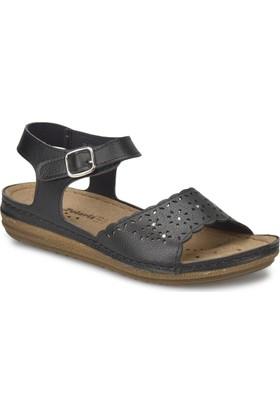 Polaris 81.157370.Z Siyah Kadın Basic Comfort Sandalet