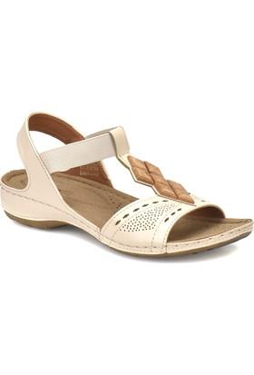 Polaris 81.157364.Z Bej Kadın Basic Comfort Sandalet