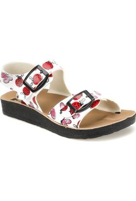 Seventeen Softy Beyaz Kız Çocuk Basic Sandalet
