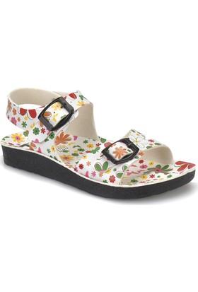 Seventeen Mına Beyaz Kız Çocuk Basic Sandalet