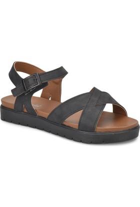 Polaris 81.311538.Z Siyah Kadın Sandalet