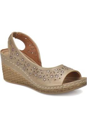 Polaris 81.157342.Z Kum Rengi Kadın Basic Comfort Sandalet