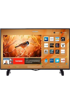 "Telefunken 49TF6520 49"" 124 Ekran Full HD Smart LED TV"