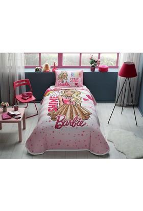 Taç Lisanslı Tek Kişilik Pike Takımı Barbie Shine