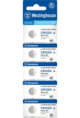 Westinghouse CR1220 3v Lityum Pil 5li Blister Ambalaj