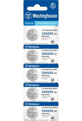 Westinghouse CR2032 3v Lityum Pil 5li Blister Ambalaj