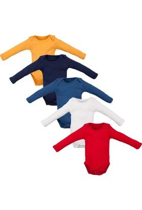 Çillim Çıtçıtlı Erkek 5'Li Body Seti 5 Renk