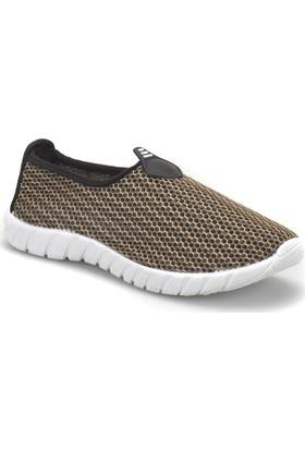 Art Bella Cs18015 Koyu Haki Kadın Slip On Ayakkabı
