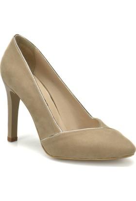 Butigo 18S-093 Bej Kadın Topuklu Ayakkabı