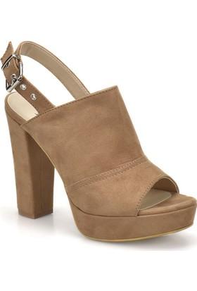 Butigo 18S-138 Camel Kadın Topuklu Ayakkabı