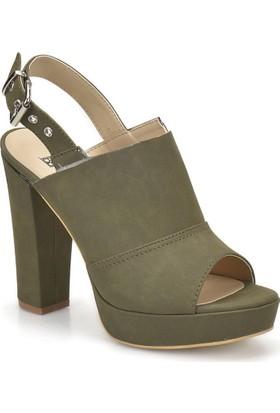 Butigo 18S-138 Haki Kadın Topuklu Ayakkabı