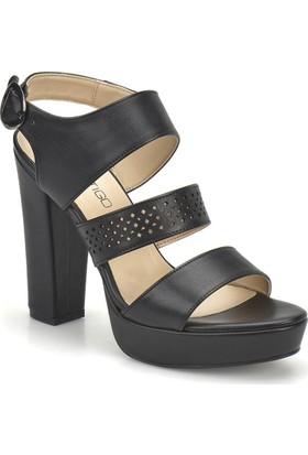 Butigo 18S-140 Siyah Kadın Topuklu Ayakkabı
