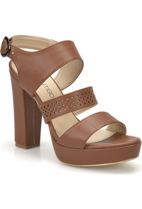Butigo 18S-140 Taba Kadın Topuklu Ayakkabı