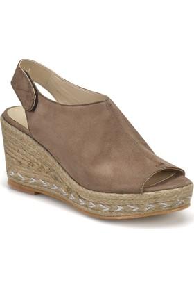 Butigo Ds18035 Vizon Kadın Basic Dress Dolgu Topuklu Sandalet