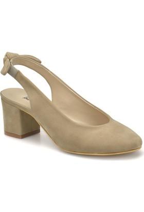 Butigo Ds18036 Bej Kadın Basic Dress Dolgu Topuklu Sandalet
