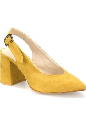 Butigo May 50Z Hardal Kadın Topuklu Ayakkabı