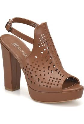 Butigo S1121 Taba Kadın Topuklu Ayakkabı