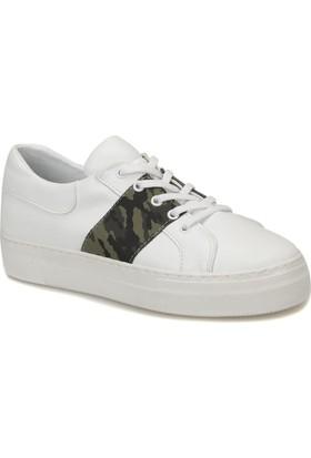 Butigo Contessa01Z89Z Beyaz-Leopar Kadın Sneaker Ayakkabı