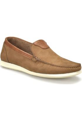 Flogart 278 M 6674 Kum Rengi Erkek Deri Modern Ayakkabı