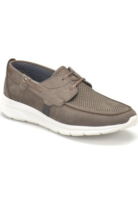 Flogart 70423 Gri Erkek Deri Modern Ayakkabı
