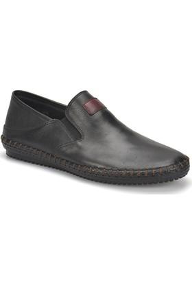 Flogart G-103 M 1455 Siyah Erkek Deri Modern Ayakkabı