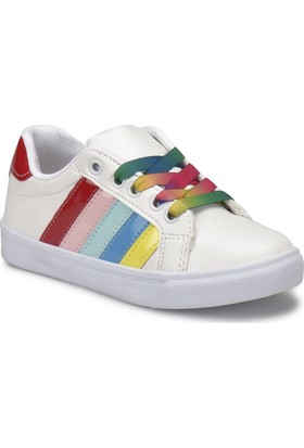 I Cool Funny Beyaz Kız Çocuk Sneaker