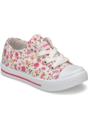Kinetix Dennı F Beyaz Pembe Sarı Kız Çocuk Sneaker