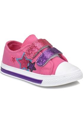 Kinetix Dery Neon Pembe Mor Kız Çocuk Sneaker