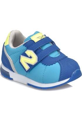 Kinetix Poldy Açık Mavi Saks Neon Yeşil Erkek Çocuk Sneaker