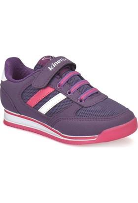 Kinetix Tramor Mor Koyu Fuşya Beyaz Kız Çocuk Sneaker