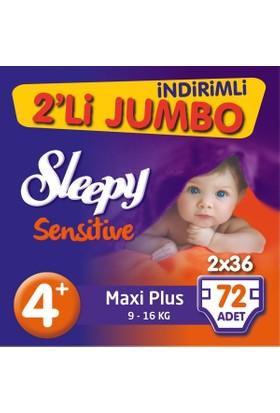 Sleepy Pepee bebek bezi 4+ beden Jumbo Maxi Plus 72 adet