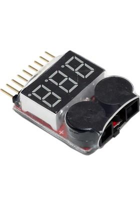 DYS - LiPo Bataryalar İçin Voltaj Göstergesi ve Değeri Ayarlanabilir Sesli Alarm