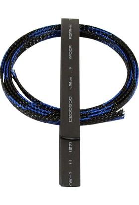 RJX HOBBY - Kablo Koruma Kılıfı - 1m Koyu Mavi+Siyah
