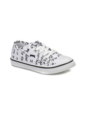 Kinetix Beny Print Beyaz Siyah Erkek Çocuk Sneaker