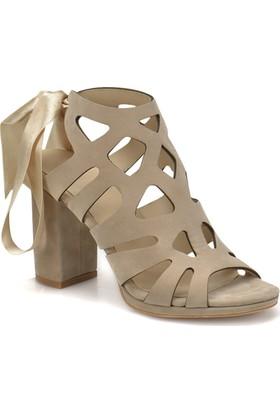 Butigo Ds18045 Bej Kadın Basic Dress Topuklu Sandalet
