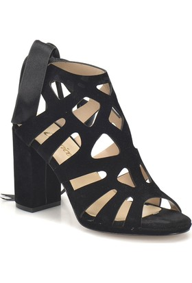 Butigo Ds18045 Siyah Kadın Basic Dress Topuklu Sandalet