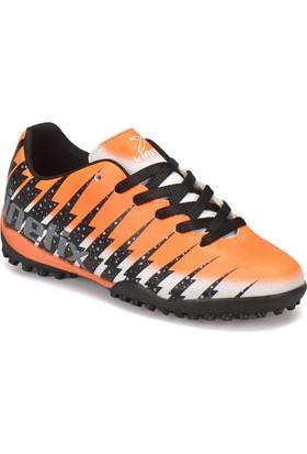 Kinetix Damon Turf Siyah Neon Turuncu Erkek Çocuk Halı Saha Ayakkabısı