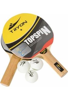 Tryon Top Spin Masa Tenisi Raket Seti MTS-101