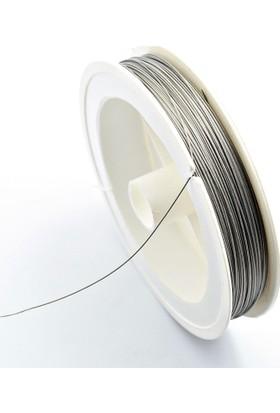 Tesbih Deposu Çelik İp Tesbih Takı Boncuk İpi 100 Metre - 0.45 Mm