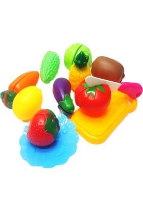 Kkd Kesilebilen 21 Parça Kesme Tahtalı Oyuncak Sebze Ve Meyve Set Pşt