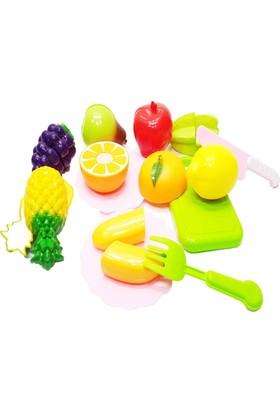 Kkd Kesilebilen 21 Parça Kesme Tahtalı Oyuncak Sebze Ve Meyve Set