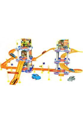 Kkd Oyuncak Garaj Seti Büyük 6 Katlı Garaj Otopark Metal Arabalı Lego