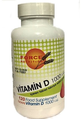 Force Nutrition Vitamin D 1000 Iu 120 Tablet