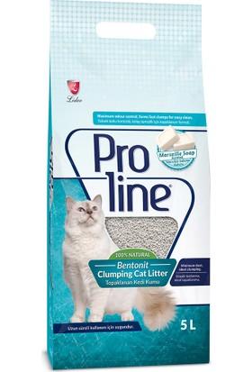 Proline Marsilya Sabunlu Topaklaşan Kedi Kumu 5 Lt
