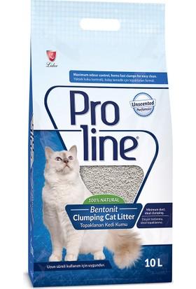 Proline Bentonit Topaklaşan Kedi Kumu 10 Lt Parfümsüz