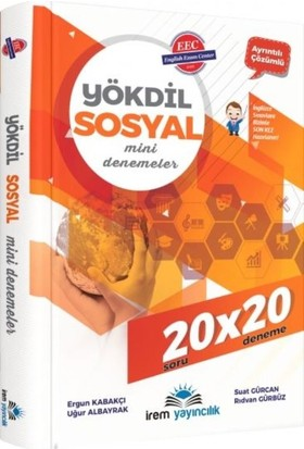İrem Yayıncılık Yökdil Sosyal Mini Denemeler 20X20