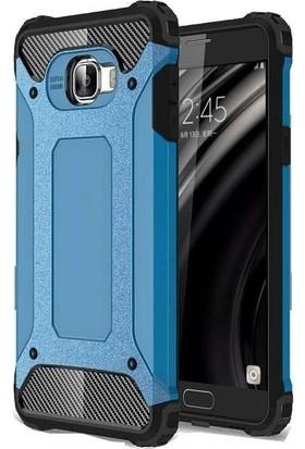 Teleplus Samsung Galaxy C5 Çift Katmanlı Tank Kapak Kılıf Mavi